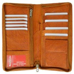 leather travel document holder