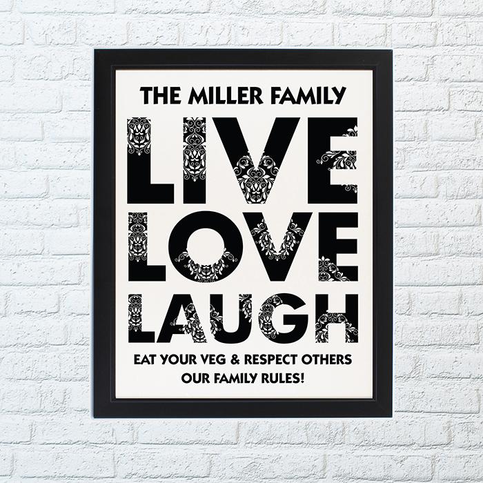 Couples Live Laugh Love Poster