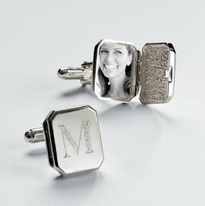 personalized locket cufflinks