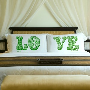 personalized Love pillows