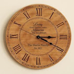personalized wooden anniversary clock