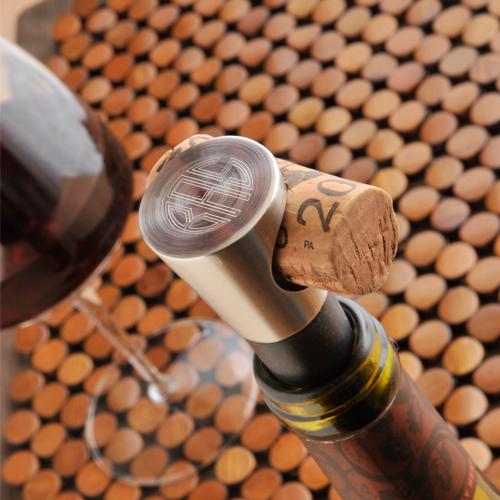 monogrammed silver wine stopper