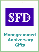 monogram wedding anniversary gifts
