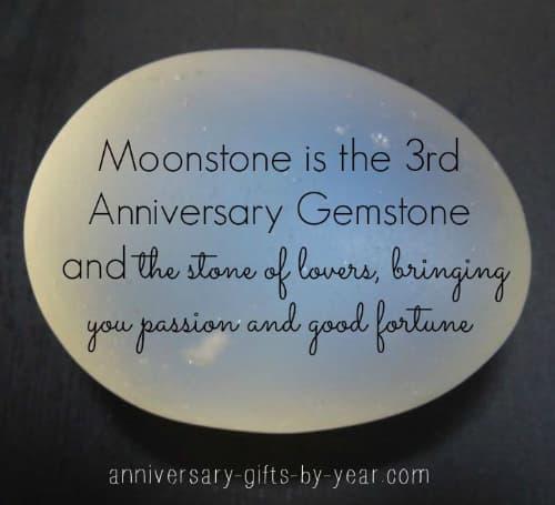 3rd anniversary symbol - Moonstone on the gemstone list