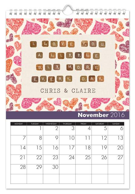 Romantic Calendar Ideas : Most romantic st wedding anniversary gift ideas in paper