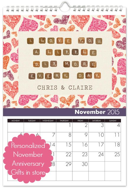 personalized November Anniversary gift ideas
