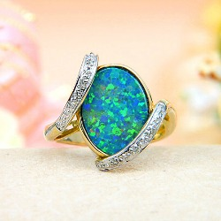 opal 14th anniversary ring