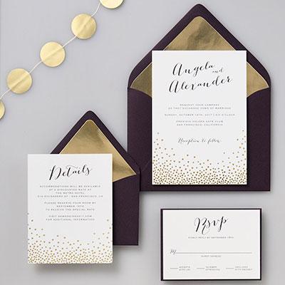 gold anniversary invitations