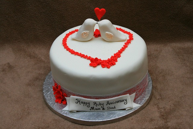 Cake Ideas For Parents Anniversary : Fabulous 40th Wedding Anniversary Party Ideas