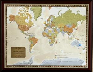 Anniversary travel map