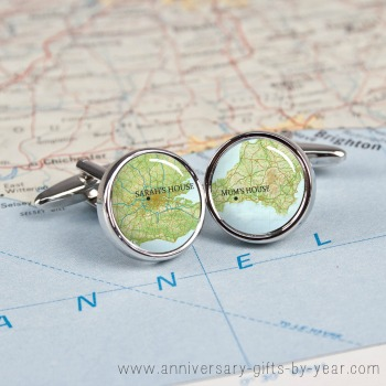 personalised anniversary cufflinks