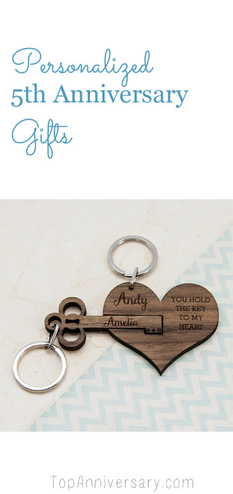 personalized 5th anniversary gifts