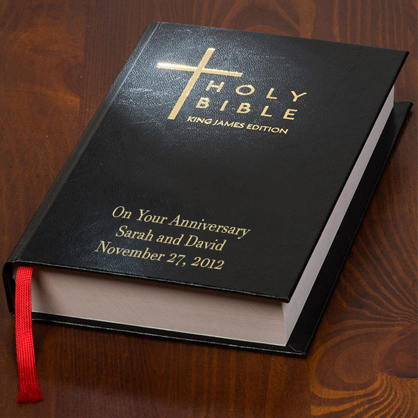 personalized leather anniversary bible