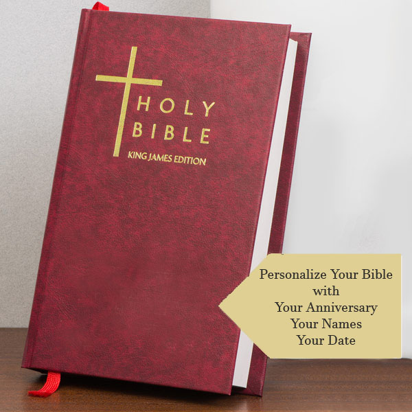 40th anniversary personalized bible
