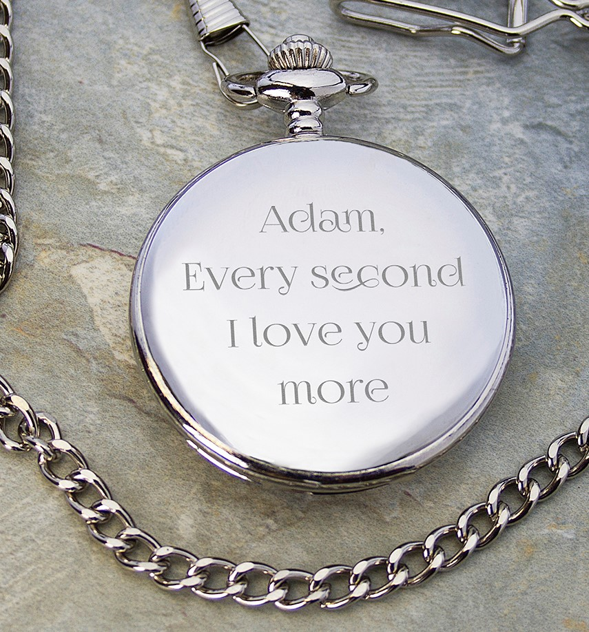 engraved anniversary pocket watch