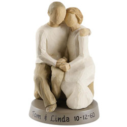 personalized anniversary couple figurine