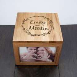 1st anniversary photo and memory box
