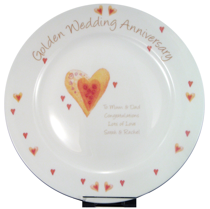 personalized 40th Anniversary year plate