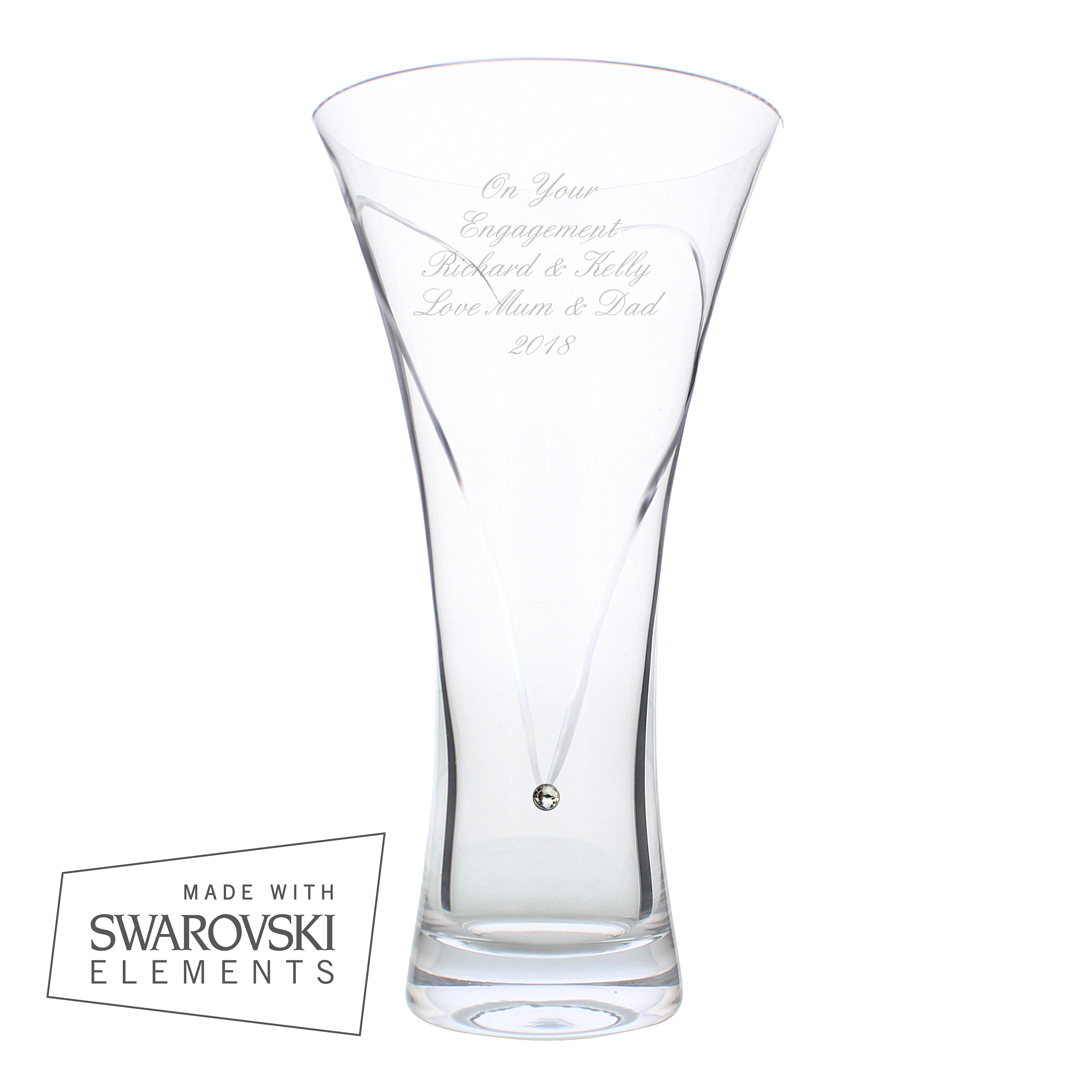 personalized Anniversary year vase