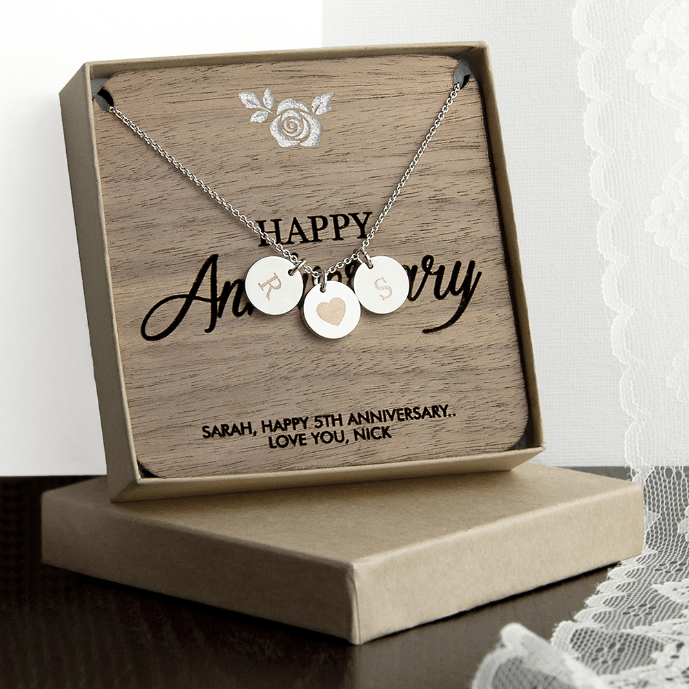 personalized happy 10th Anniversary necklace & Modern 10 Year Anniversary Present Ideas