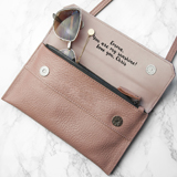 leather anniversary purse for her