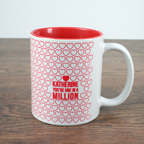 personalized heart coffee mug