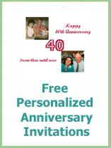 photo anniversary invitations
