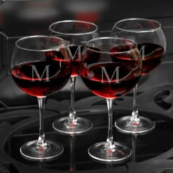 personalized crystal anniversary wine glasses