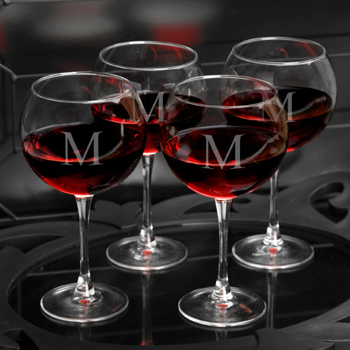 monogrammed wine glasses