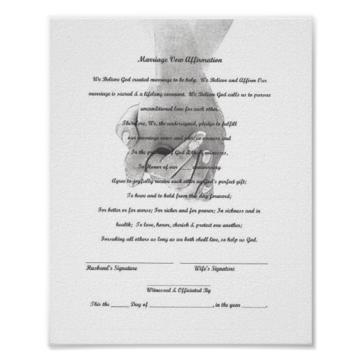 do you need a vow renewal certificate to renew your vows