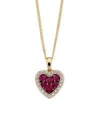 ruby anniversary necklace