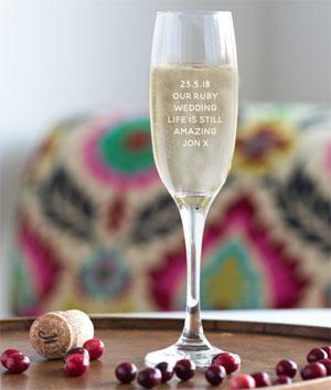 40th anniversary champagne glasses
