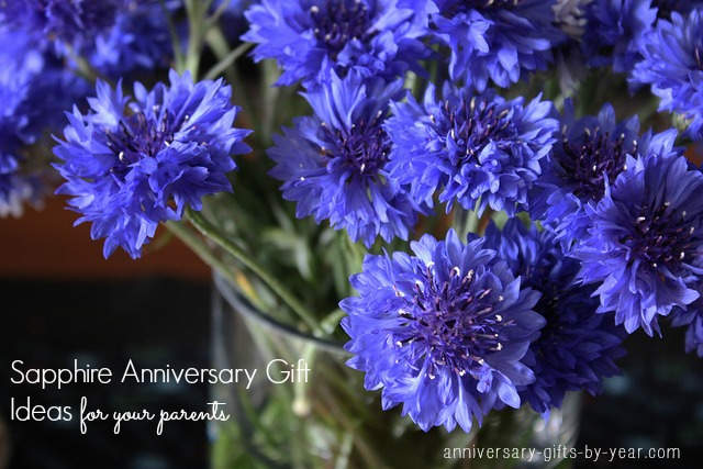 sapphire anniversary gift ideas