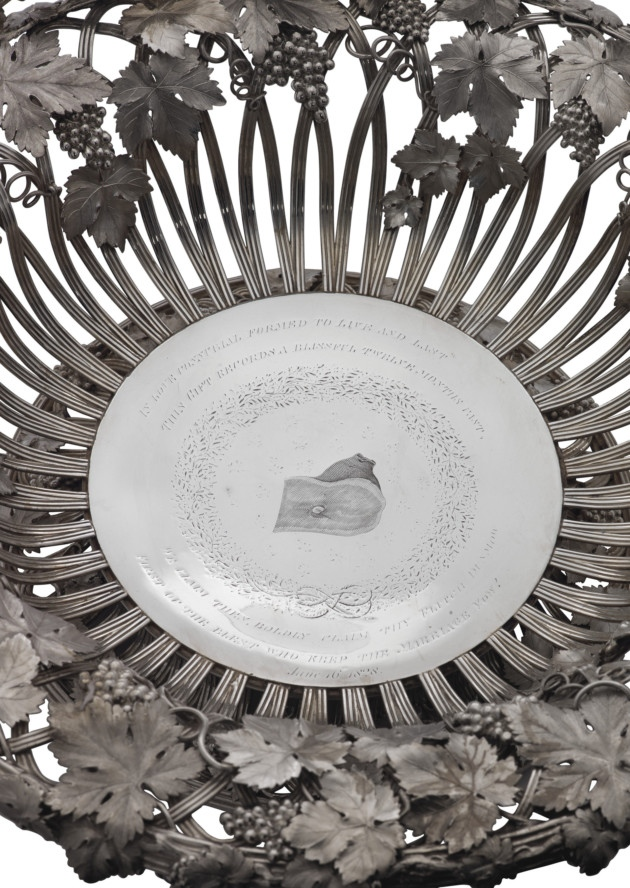 dunmow fitch engraved silver bowl