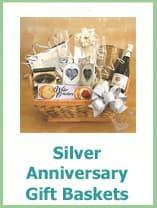 silver anniversary gift baskets
