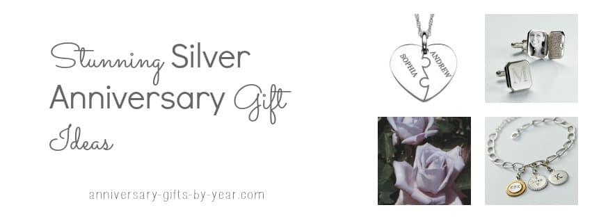 silver anniversary gift ideas