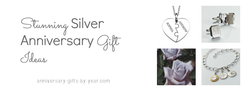 silver anniversary gift ideas