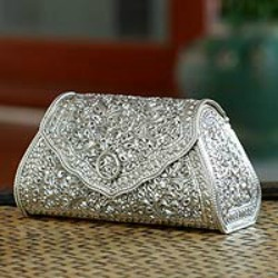 ... Silver purse, 'Kanok Elegance' is an unusual and stunning gift