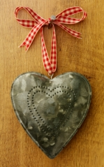homemade 10th anniversary tin heart