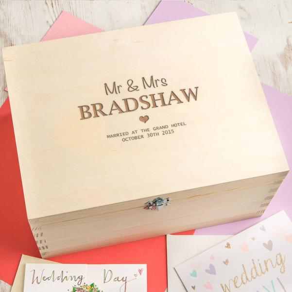 1st anniversary couples memory box