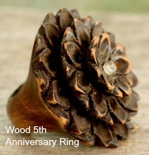 lotus design wood ring