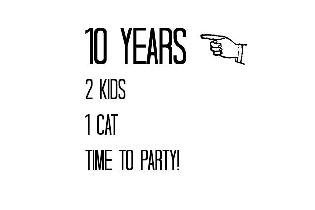 10th anniversary invitation idea