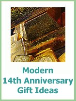 modern 14th anniversary presents
