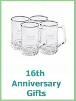 Modern 16th Anniversary Gift Ideas