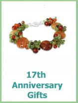 modern 17th anniversary gift ideas