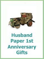 1st anniversary gifts for yuor husband in paper