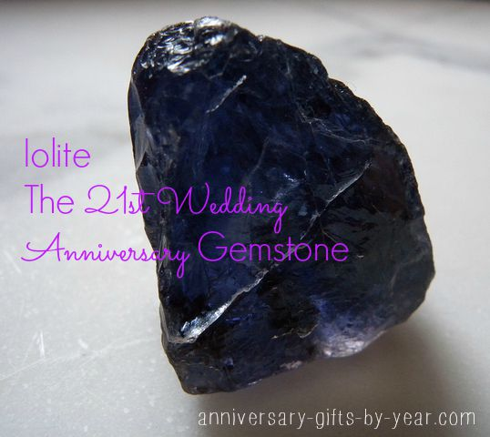 21st anniversary gemstone - iolite