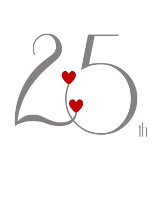 personalized 25th anniversary card