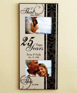 personalized 25th anniversary frame