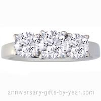 3 diamond platinum anniversary ring